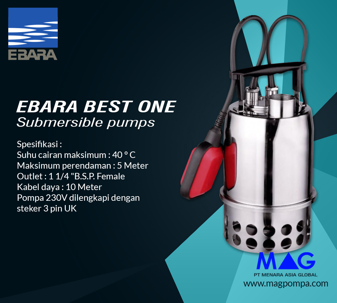 Ebara BEST ONE Submersible Pumps